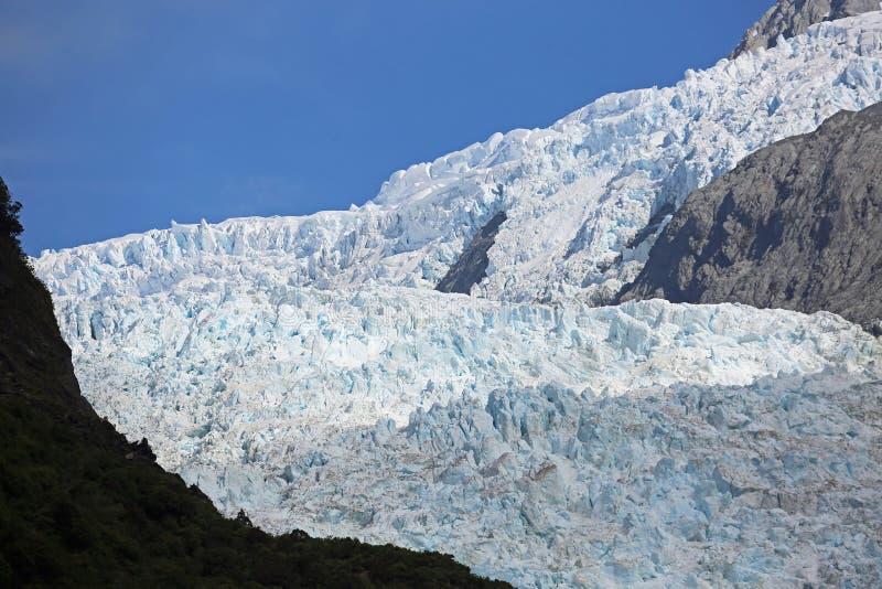 Del av den Franz Josef glaciären arkivbilder
