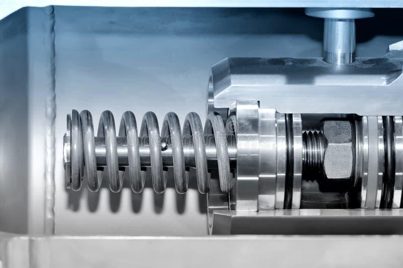 Del av den industriella mekanismen Blå toning arkivfoton