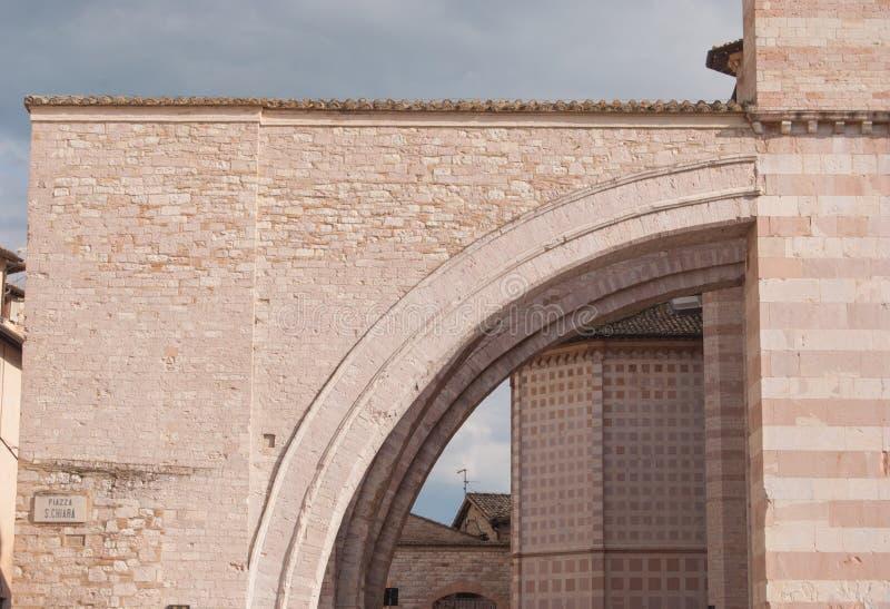 Del av den Santa Chiara kyrkan arkivbild