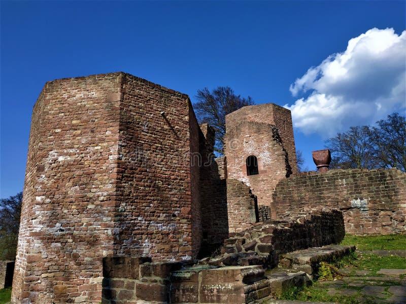 Del av det övergav Stets Michael kloster i Heidelberg arkivfoto