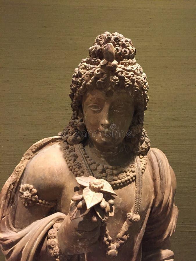 Del av en brandbuddha triptyk royaltyfri fotografi