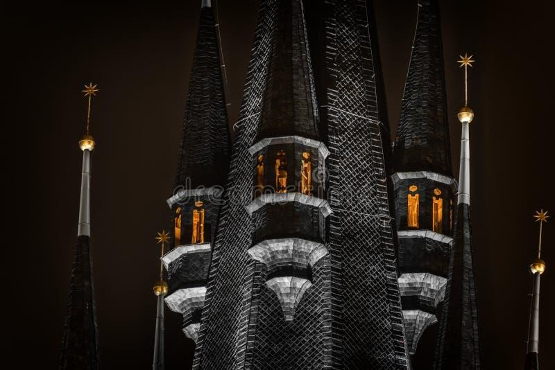 Del av en mörk slott arkivfoton