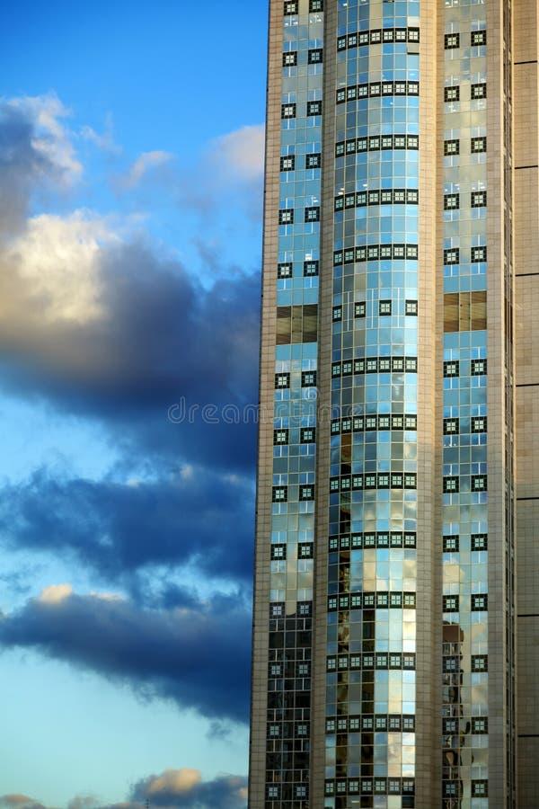 Skyskrapautdrag royaltyfria bilder