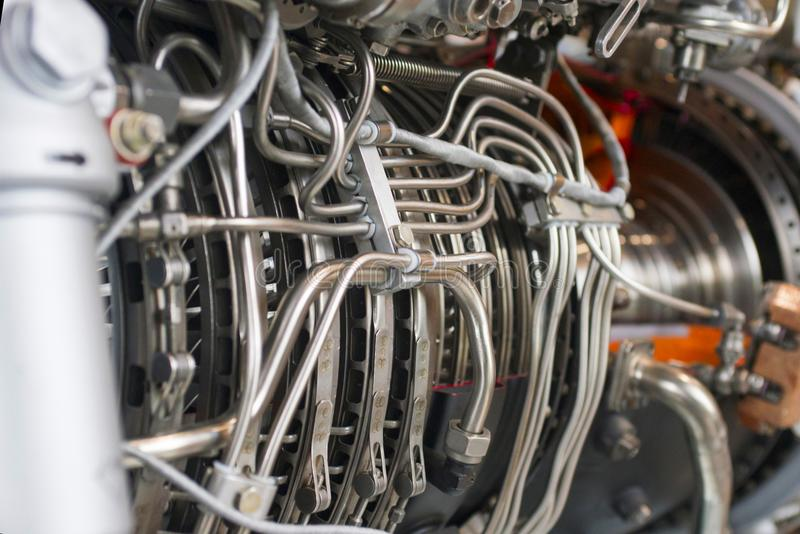 Del av en turboladdarejetmotor arkivbilder