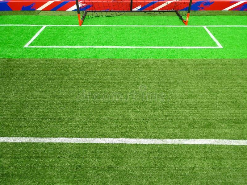 Del av fältet för inomhus fotboll royaltyfri foto