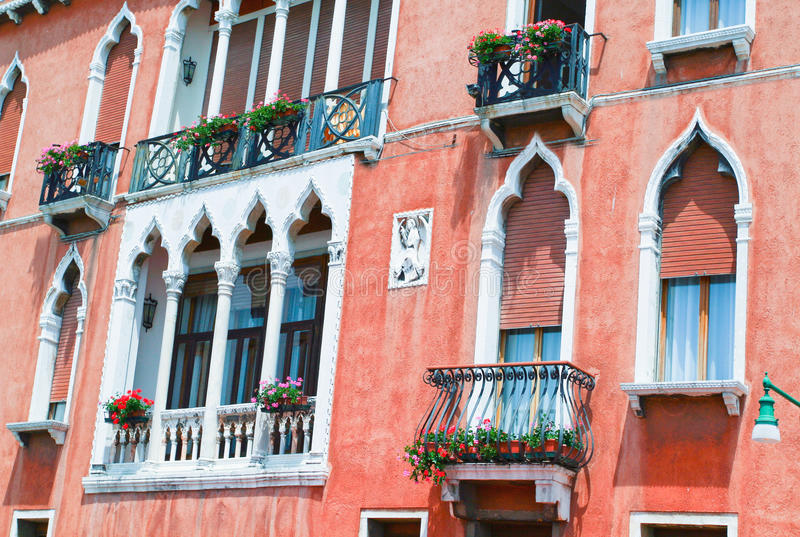 Del av garneringen av huset i Venedig royaltyfri foto