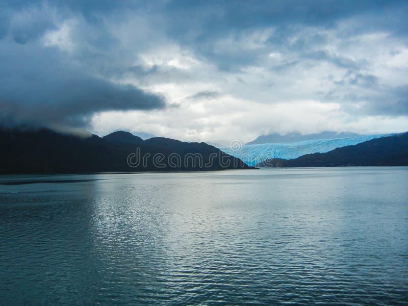 Del av glaciären i chilen för nationalpark för bernardo nolla-higgins arkivfoton