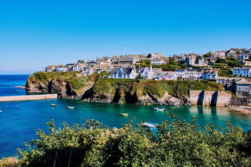 Del av port Isaac, norr Cornwall royaltyfria bilder
