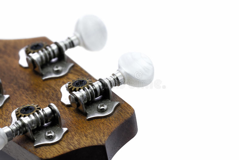 Del av ukulelegitarren arkivbilder
