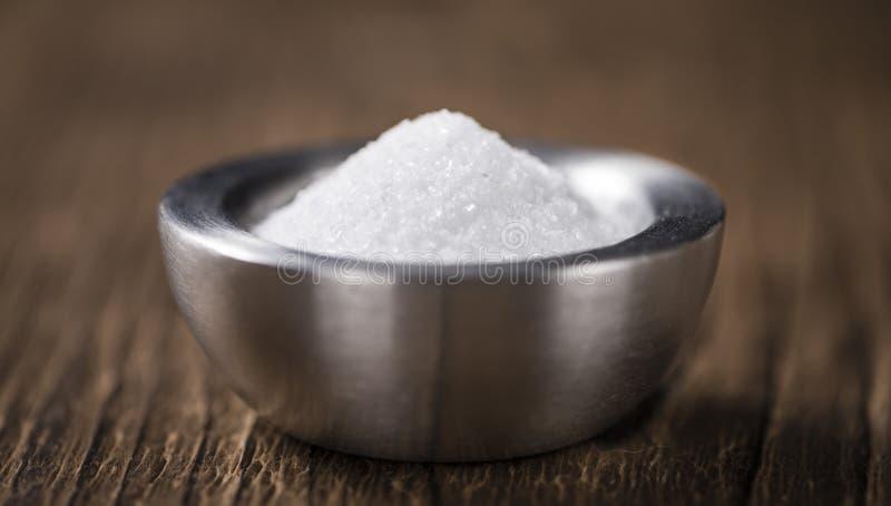 Del av vitt socker i en bunke fotografering för bildbyråer