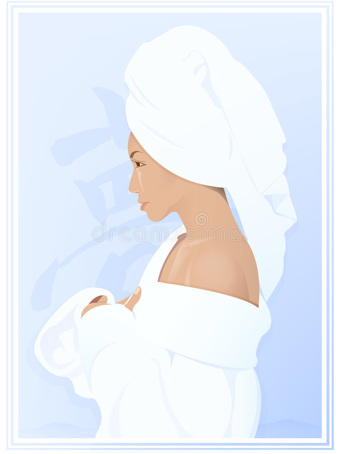 Del baño ilustración del vector