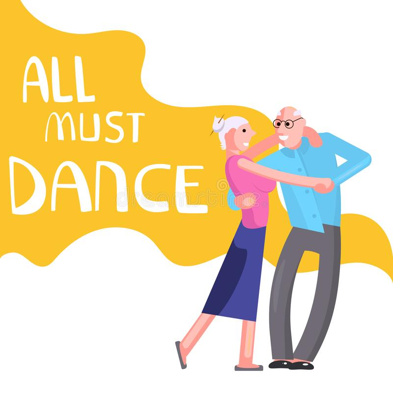 Del baile de la bandera personas mayores felices libre illustration