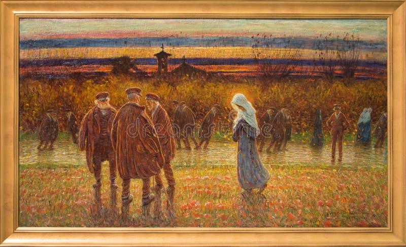 ` 1898 del cadenti de Foglie del ` por el ` Oca Bianca de Angelo Dall imagen de archivo libre de regalías