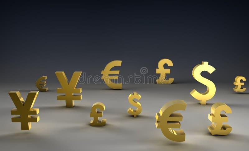 Del cambio sull'estero illustrazione vettoriale