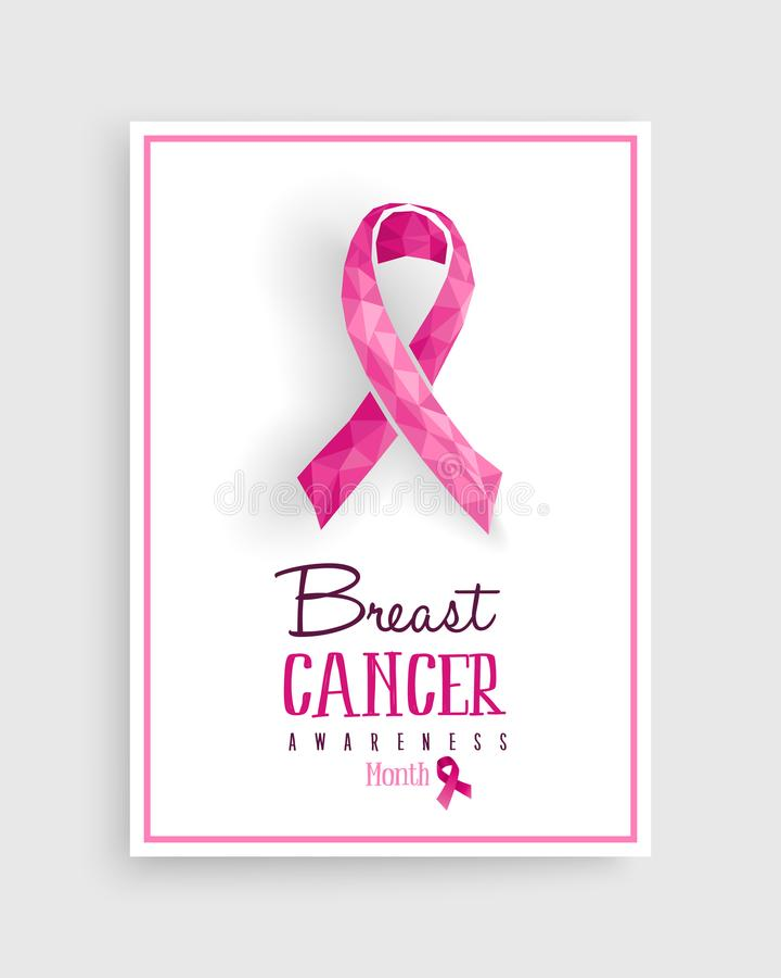 Del cancro al seno di consapevolezza di rosa poli manifesto dell'arco in basso illustrazione vettoriale