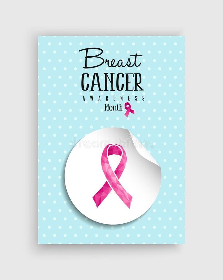Del cancro al seno di consapevolezza di rosa poli manifesto dell'arco in basso royalty illustrazione gratis