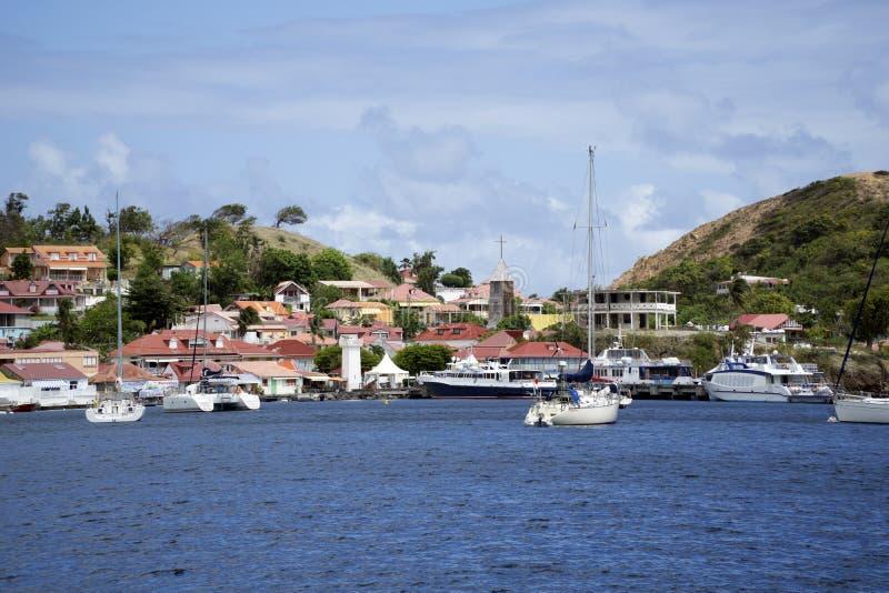 Del Caribe, francés las Antillas, archipiélago de Guadalupe imagen de archivo libre de regalías
