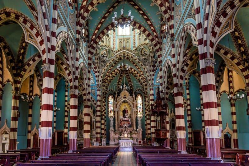 Del Carmen La Candelaria Bogota Colomb de Santuario Nuestra Senhora imagens de stock royalty free