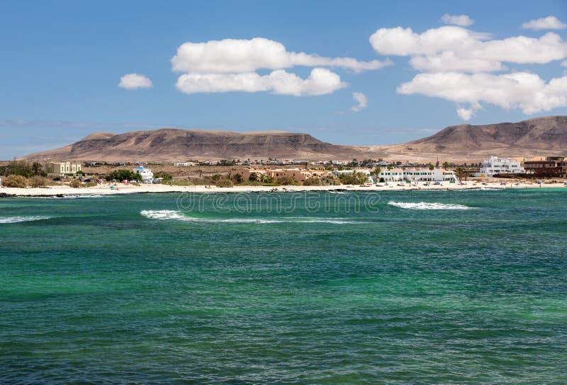 Del Castillo Пляж El Cotillo на Фуэртевентуре стоковые фотографии rf