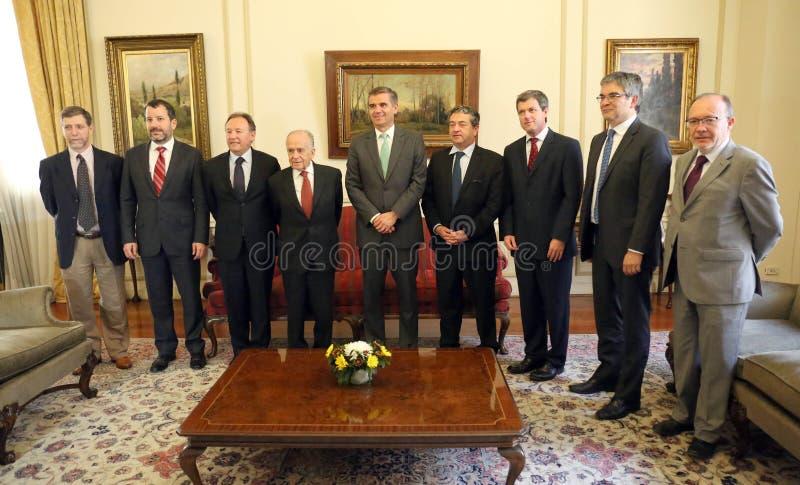 Del central banco Senado de Comisión de Hacienda del la de la estafa del de Reunión del Consejo imagen de archivo