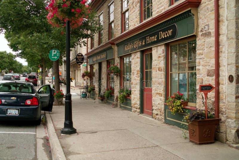 Del centro, Perth Ontario Canada immagine stock