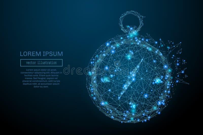 Del compás azul polivinílico bajo stock de ilustración