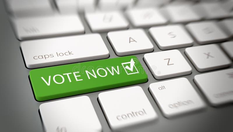 Del computer o di Internet di voto concetto ora illustrazione vettoriale