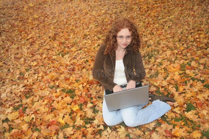 Download Del Computer Portatile Donna All'aperto Fotografia Stock - Immagine di molti, divertimento: 7306206