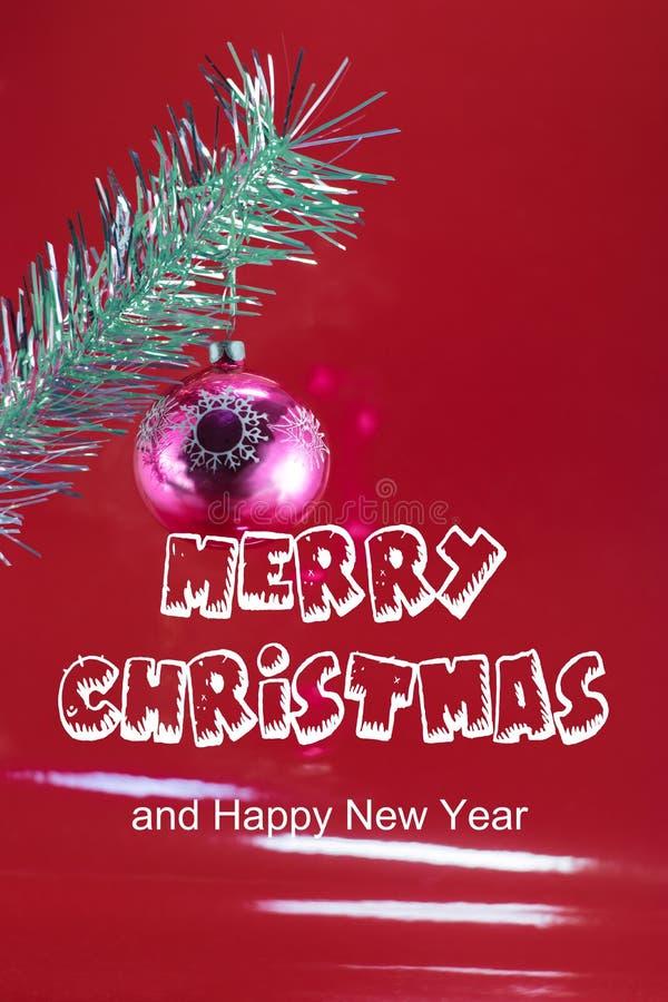 ` Del ` de la Feliz Navidad del ` de la tarjeta de felicitación y de la Feliz Año Nuevo del ` foto de archivo