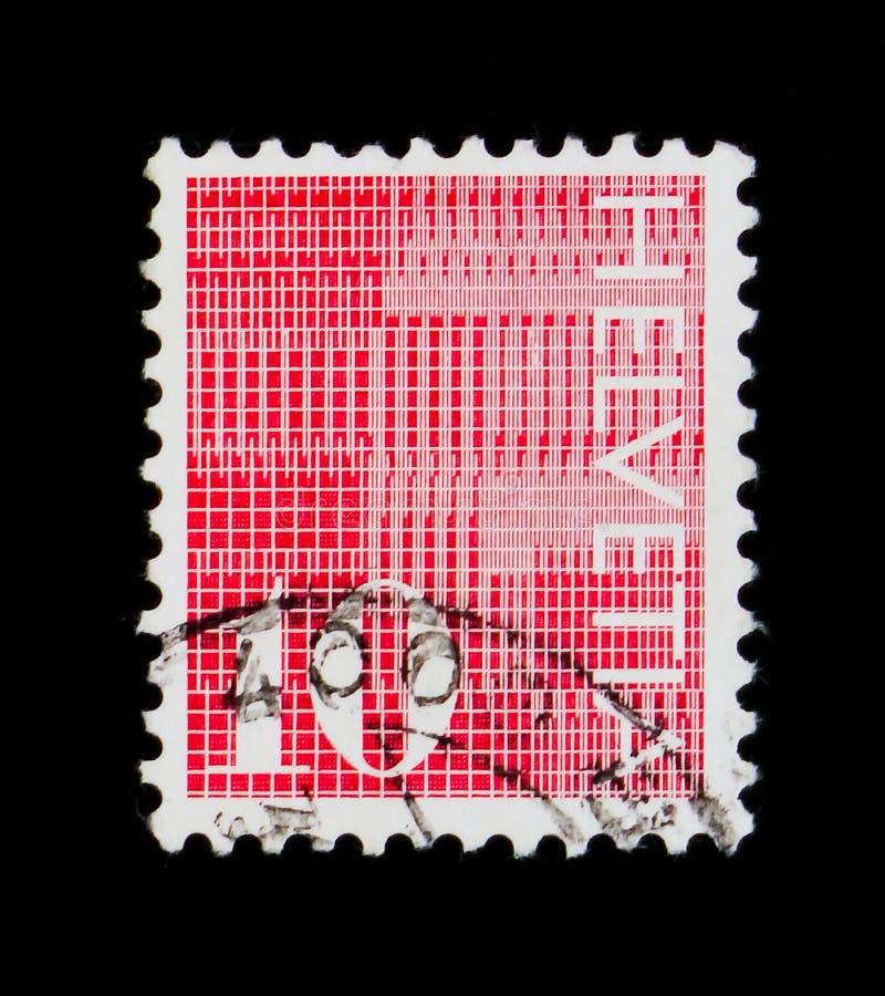 ` Del ` 10 delle cifre su fondo modellato, serie numerale, circa 1970 immagini stock libere da diritti