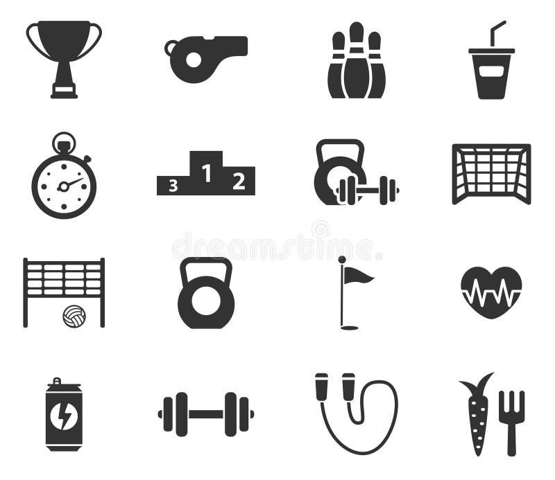 Del deporte iconos simplemente ilustración del vector
