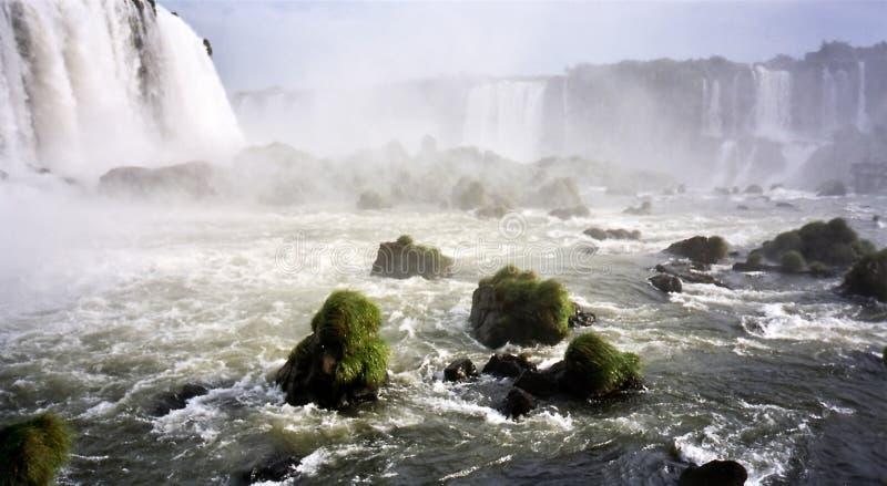 Del Diablo秋天garganta Iguazu 库存照片