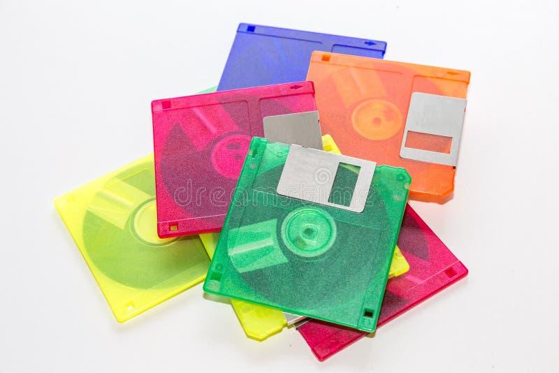 Del disco blando colorido en el fondo blanco imagen de archivo