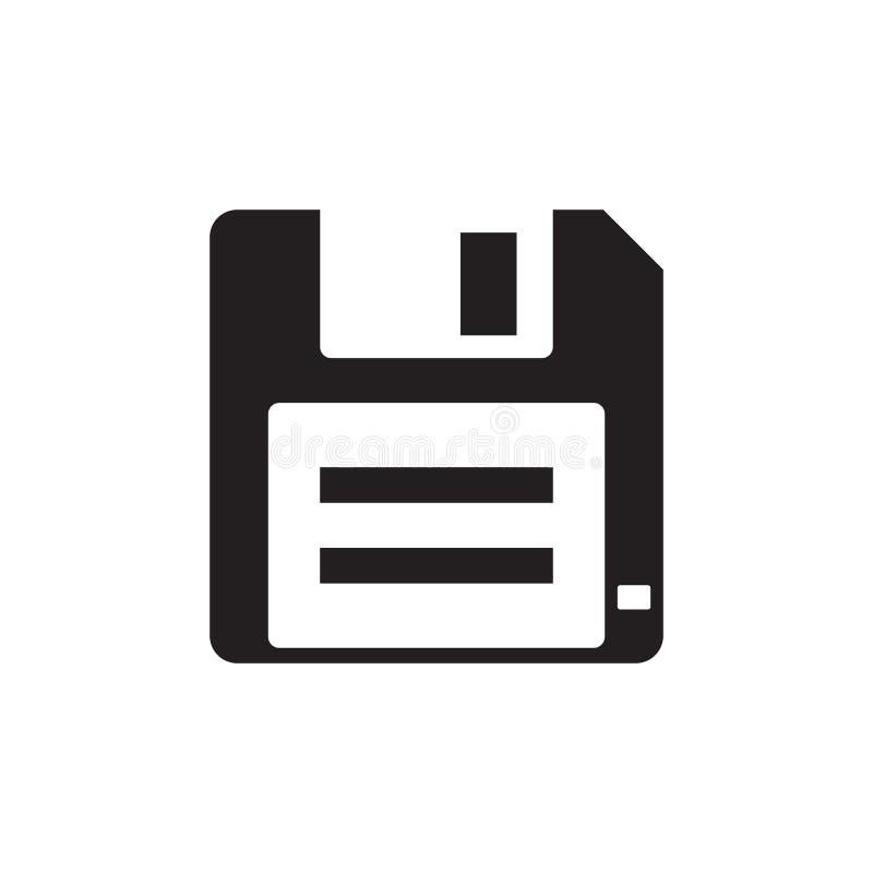 Del disco blando - icono negro en el ejemplo blanco del vector del fondo para la página web, aplicación móvil, presentación, info ilustración del vector