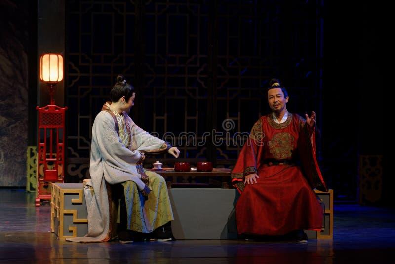 Del discusión- acto heated en segundo lugar: la noche del drama histórico ejército-grande, ` Yangming ` de tres noches imagenes de archivo