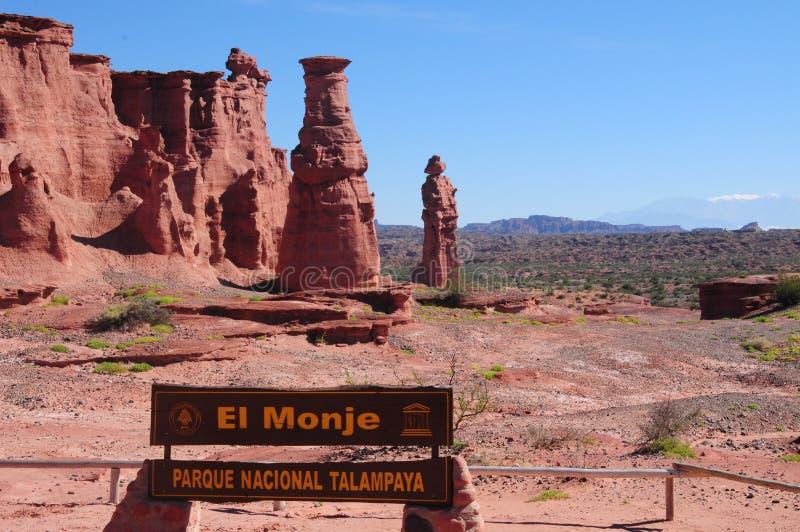 ` Del EL Monje del `, parque nacional Talampaya, la Argentina fotos de archivo libres de regalías