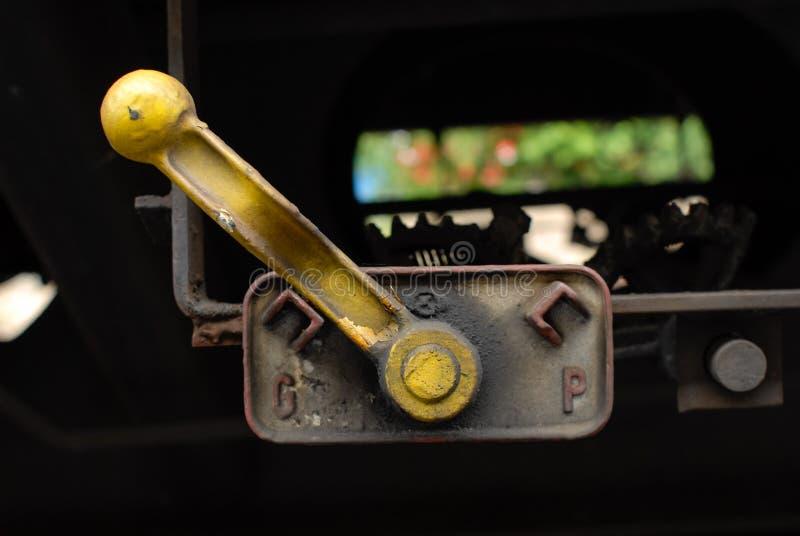 Del encender carro neumático o hidráulico de la carga del tren fotografía de archivo libre de regalías