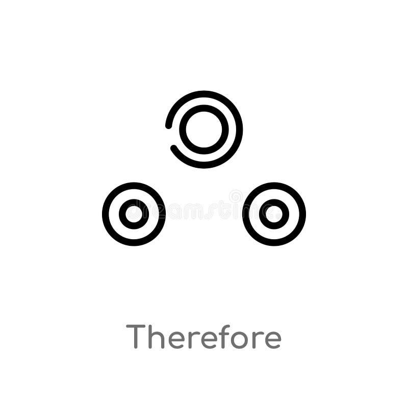 del esquema icono del vector por lo tanto l?nea simple negra aislada ejemplo del elemento del concepto de las muestras Movimiento stock de ilustración