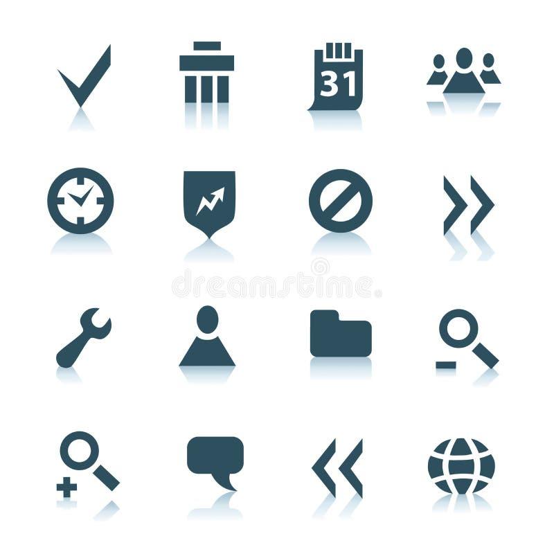 del för 2 grå symbolsinternet royaltyfri illustrationer