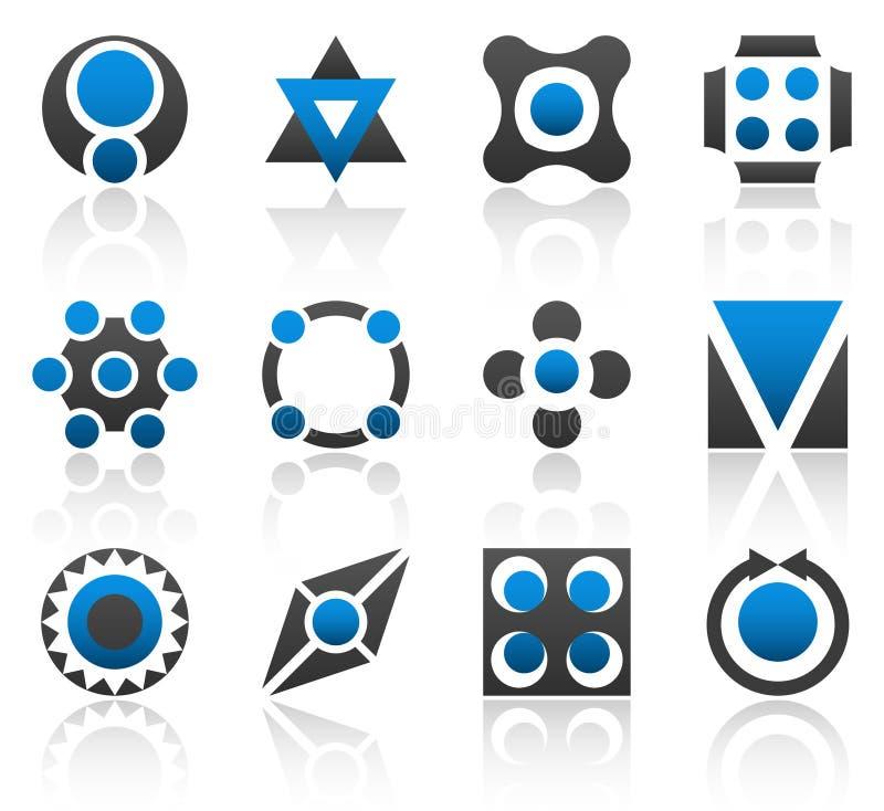 del för 3 designelement stock illustrationer