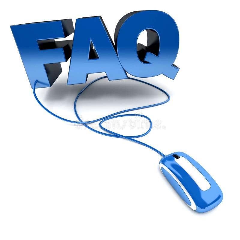 Del FAQ azul en línea ilustración del vector