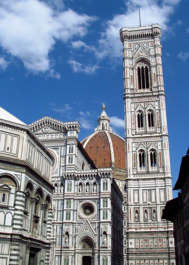 Del Fiore Piazza Duomo de Florence Cathedral Basilica di Santa Maria fotografía de archivo libre de regalías