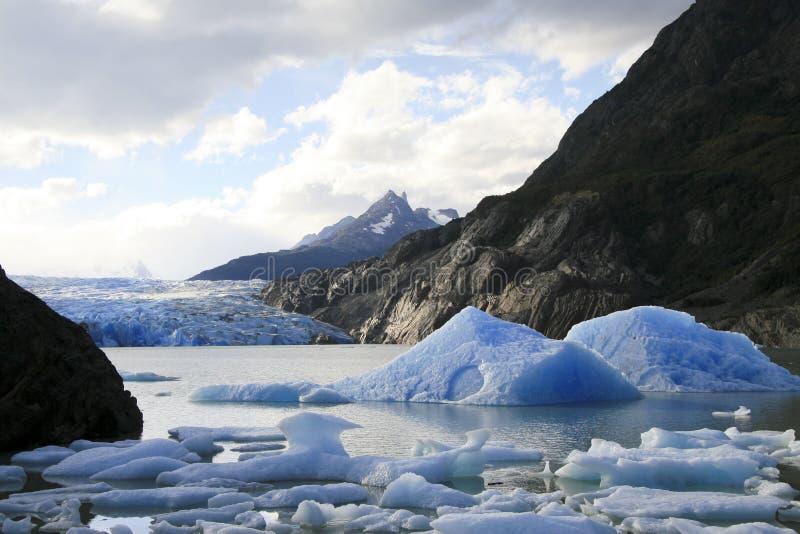del glaciär painetorres arkivfoton