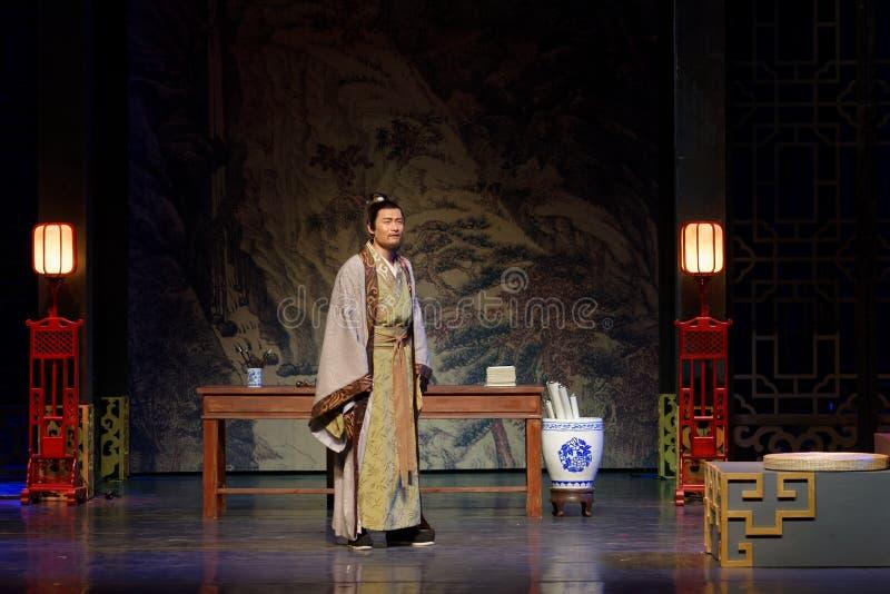 Del gobernador de Wang Yangming-The acto en segundo lugar: la noche del drama histórico ejército-grande, ` Yangming ` de tres noc fotos de archivo