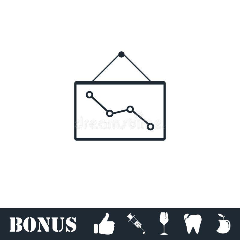 Del grafico icona gi? piana illustrazione di stock