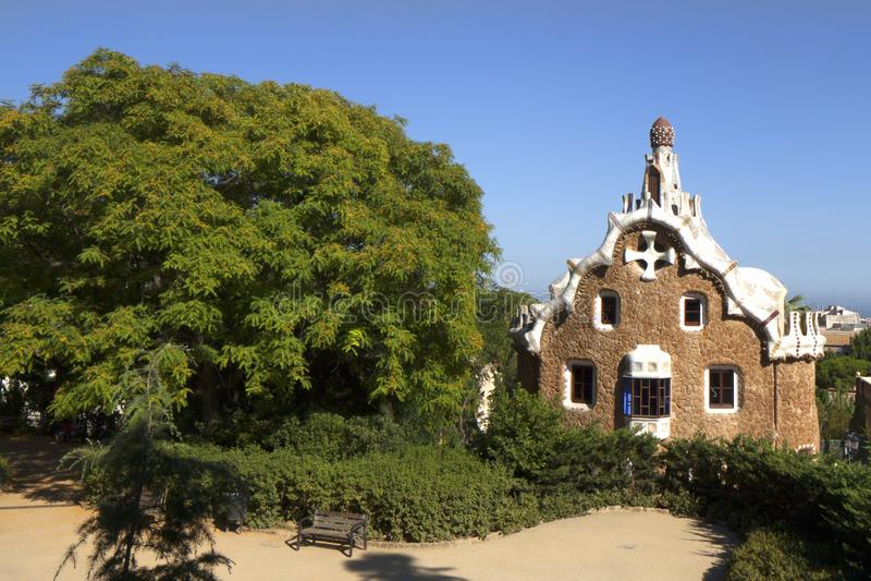 Del Guarda da casa de Guell do parque imagens de stock royalty free