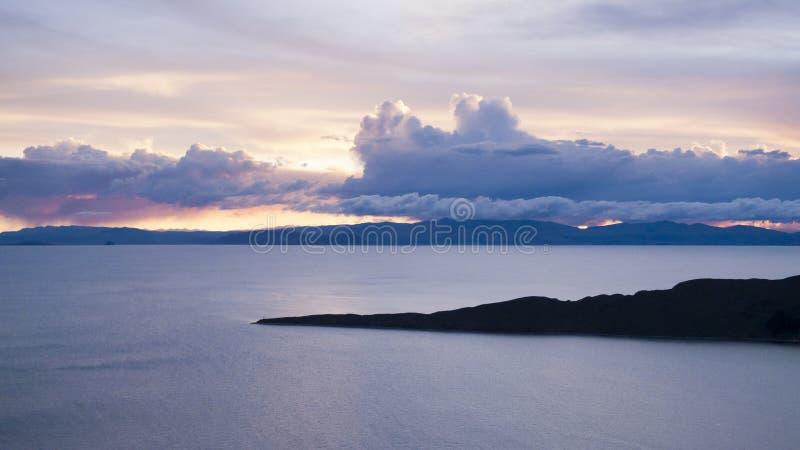 del isla sol日落 图库摄影