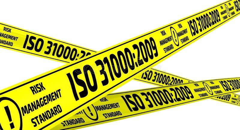 31000:2009 del ISO Cintas amonestadoras amarillas ilustración del vector