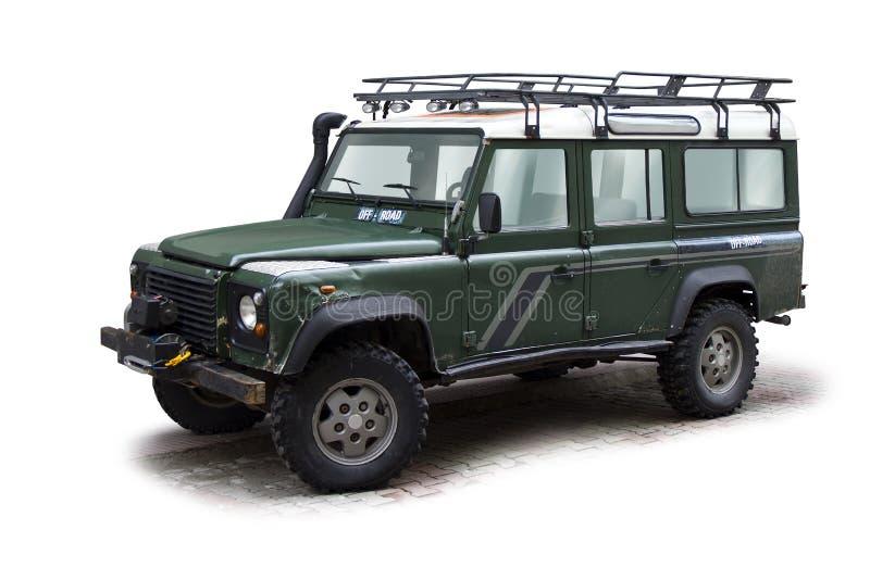 Del jeep del camino imagen de archivo libre de regalías