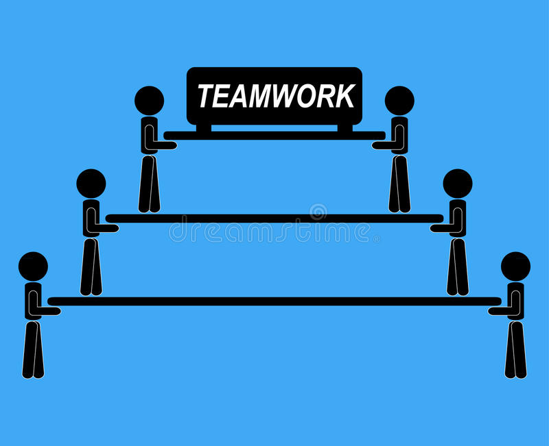Del lavoro di gruppo comunicazione di idea di vettore dell'illustrazione insieme illustrazione di stock